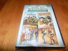 TOP TV WESTERNS THE VIRGINIAN WAGON TRAIN LAREDO LARAMIE 4 Disc DVD SET NEW