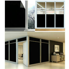 Privacy Window Film Non-adhesive BLACKOUT Anti UV stained Glass