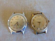 Lot Of 2 Vintage Watch Elgin Sportsman 17 Jewels & Caravelle Waterproof UNTESTED