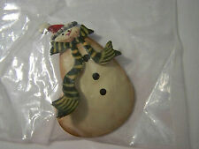 """Painted Tin Snowman Magnet 2 3/4"""""""
