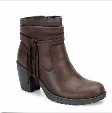 B.O.C BORN CONCEPT Ladies ALICUDI Ankle Style Boots  BROWN Sz. 8.5 M  NIB