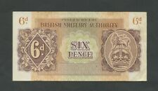 More details for british military authority  6d  wwii  krause m1  vf  banknotes