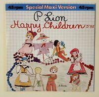 "P. Lion: Happy Children (Vocal - Replica 12"" Mix) •• NEW CD ITALO DISCO REMIX"