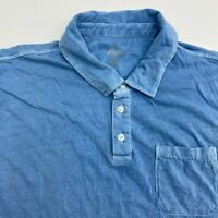 G.H. Bass & Co Polo Shirt Men's Size 2XL Short Sleeve Solid Blue 100% Cotton