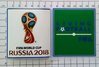 Patch Badge Coupe du Monde Russie 18 + patch Living Football FIFA France Finale