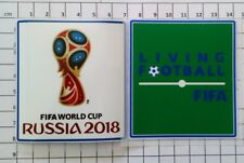 Patch Coupe du Monde Russie 18 + patch Living Football FIFA Brésil France Finale