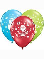 "6 x 11"" Christmas Snowman, Penguin & Santa Latex balloons"