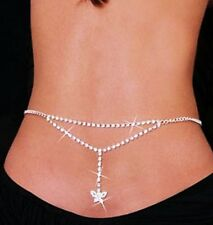 DIAMOND SPARKLING BODY CHAIN BLING BUTTERFLY PENDANT WAIST JEWELRY BEACH FASHION