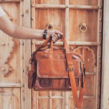 Bag Genuine Leather Men Messenger S Shoulder Handmade Briefcase Laptop Satchel