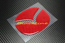 For MAZDA 6 REAR TRUNK EMBLEM RED CARBON FIBER INSERT DECAL Mazdaspeed MPS