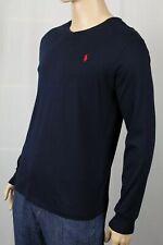 Polo Ralph Lauren Navy Blue Classic Fit Long Sleeve V-Neck Tee T-Shirt NWT