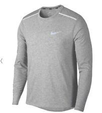 Nike sz S Men's Breathe Rise 365 Long Sleeve Running Top New 891490 036 Grey