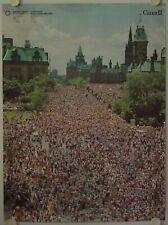 Affiche Tourisme CANADA OTTAWA - FETE DU 1e JUILLET Ann.'60