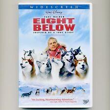 Walt Disney PG movie: Eight Below 2006, mint DVD Paul Walker Antarctica drama ws