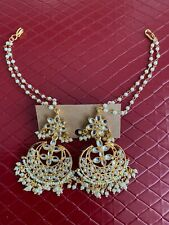 INDIAN ETHNIC BOLLYWOOD, one gram jewelry earrings (Chaandbalis) set