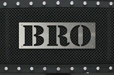 Stainless Steel Grille Badge fits Ford Raptor F150 Jeep Toyota Tundra Tacoma BRO