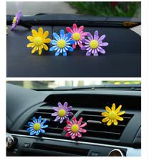 Rotate Sun Flower Car Air Vent Perfume Air Conditioner Car Freshener