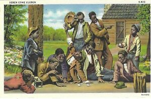 POSTCARD SEBEN COME ELEBEN (SEVEN COME ELEVEN) BLACK AMERICANA