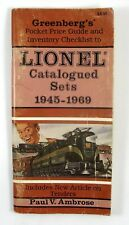Rare 1991 1st Edition First Printing Greenbergs Lionel Catalogued Sets 1945-1969