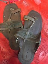 BUFFALO SANDALS 60S Retro Flat Sandal Unisex 9 7/8 Inches Long Sz 5