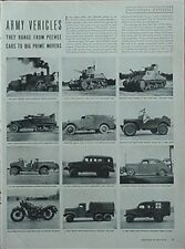 1941 ARMY VEHICLES MAGAZINE ARTICLE (4 PAGES OF PHOTOS