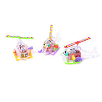 1Pcs Mini Clockwork Avion Transparent Somersault Running Liquidation FE