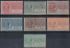 ITALIA REGNO 1926-28 Posta aerea tipo Leoni 7v MH*