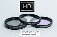 3Pc Set UV Polarizer & Fluorescent (FLD) Filter Kit For Sony NEX-F3 NEX F3 NEXF3