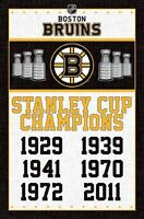 BOSTON BRUINS - STANLEY CUP CHAMPIONS POSTER - 22x34 NHL HOCKEY 13964