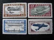 LATVIA Sc. #CB21-CB24 mint Zeppelin stamp set!