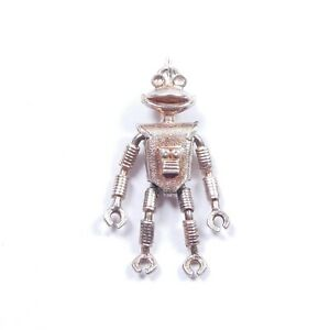 Rare Vintage Cadburys Smash Robot Charm Articulated Sterling Silver 4g