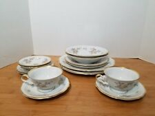 (14 pc) VTG Johann Haviland 14 Piece Service for TWO, Chippendale JOH45 Pattern