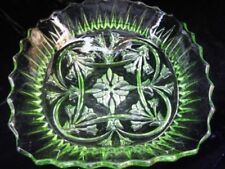 Bowl Uranium Date-Lined Glass