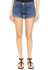 L'AGENCE ZOE PERFECT FIT DENIM SHORTS IN AUTHENTIQUE W25 UK 6/8