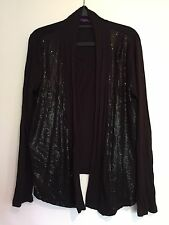 Marks And Spencer Limited Collection Black Waterfall Cardigan For Girls 15-16yrs