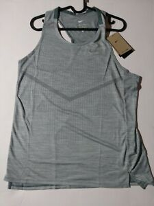 Men's Size Medium Nike Drifit ADV TechKnit Slim Fit Running Tank Top CZ9192-387