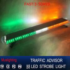 """47"""" 88 LED Emergency Warning Tow Truck Roof Strobe Light Bar Green white Amber"""
