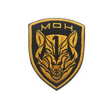 MEDAL OF HONOR TIER1 WOLFPACK AOR1 GOLD DARK OPS SWAT HOOK LOOP PATCH BADGE TAN