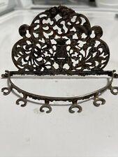 Vintage Ornate Metal Spoon Display Holder Wall Belgium Belgique Rack Decorative