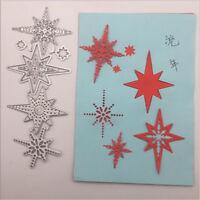 Stanzschablone Sterne Weihnachten Neujahr Hochzeit Oster Geburtstag Karte Album