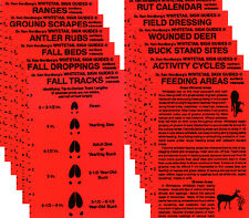 Dr. Ken Nordberg's Sign Guides—12 laminated cards (tip sheets) for deer hunters