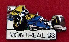RARE PIN'S F1 FORMULA ONE WILLIAMS CANON ALAIN  PROST GP CIRCUIT MONTREAL 93