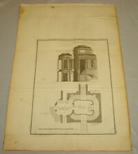 1756 Antique Print/LARGE VESTIBULE, DOUBLE RAMPS/Courses in Architecture
