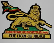 """Large RASTA THE LION OF JUDAH Embroidered Patch 7.25""""x5.5"""""""