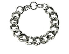 Heavy Chain Link Silver Stainless Steel Bracelet MEB626