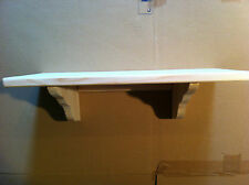 WOODEN PINE SHELF KIT 20 X 40 CM IDEAL FOR KITCHEN BATHROOM LIVING ROOM