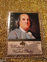 Benjamin Franklin 1760 United States History Upper Deck Trading Card