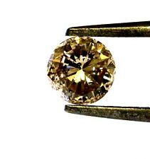 GIA certified loose round .83ct I1 natural fancy orange brown diamond estate