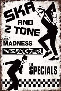 Ska 2 Tone Metal Sign Madness The Specials Selecter Vintage Bar Man Cave Plaque