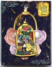 Simply Zakka - Beauty and the Beast -  Stained Glass Bell Jar Pin